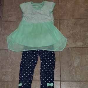Girls M 7/8 2pc outfit